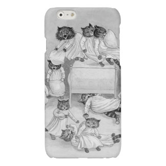Kitten Pillow Fight! Louis Wain iphone6 Case Glossy iPhone 6 Case
