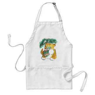 Kitten Plays with a Swinging Ball Adult Apron