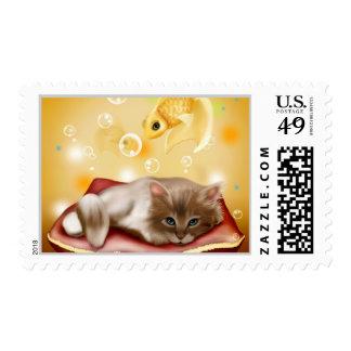Kitten Postage Stamp