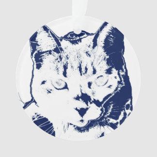 kitten posterized blue white neat feline cat image