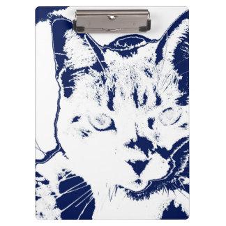 kitten posterized blue white neat feline cat image clipboard