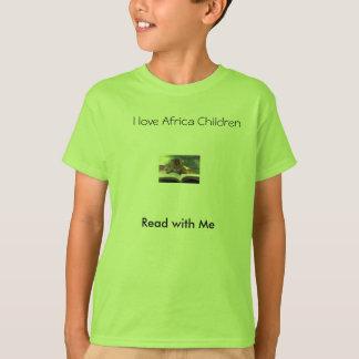 kitten Read, Read with Me, I love Africa Children T-Shirt