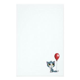 Kitten & Red Balloon Stationery