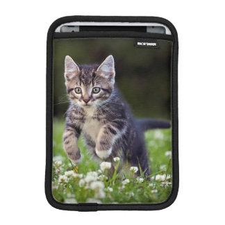 Kitten Running Through Clover Sleeve For iPad Mini
