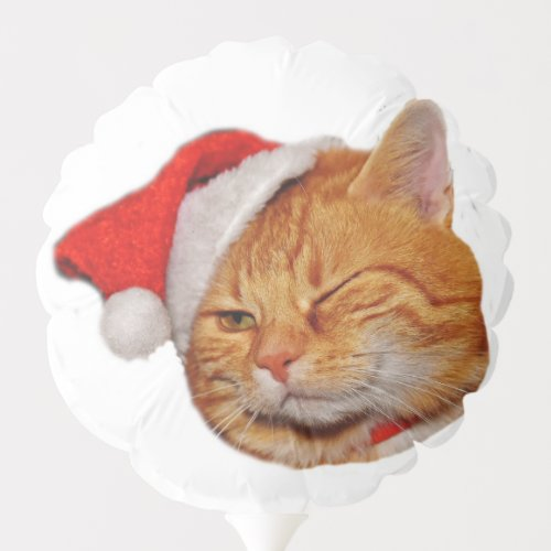 Kitten Santa Balloon