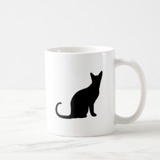 Kitten Silhouette Decor Love and Cats Coffee Mug