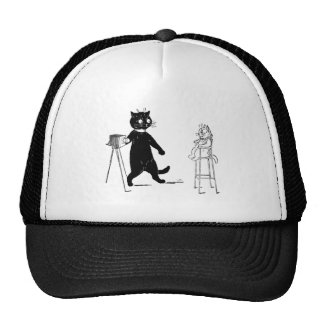 Kitten Sitting for Portrait Trucker Hat