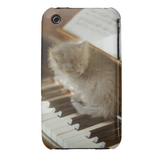 Kitten sitting on piano keyboard, close-up Case-Mate iPhone 3 case
