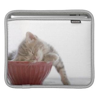 Kitten Sleeping in Bowl Sleeve For iPads