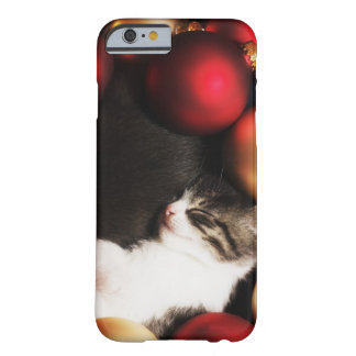 Kitten sleeping in decorations barely there iPhone 6 case