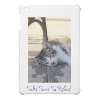 kitten sleeping iPad mini cases