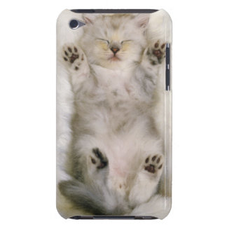 Kitten Sleeping on a White Fluffy Carpet, High Barely There iPod Case