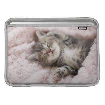 Kitten Sleeping on Towel Sleeve For MacBook Air