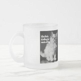 Kitten thinks of murder all day mugs