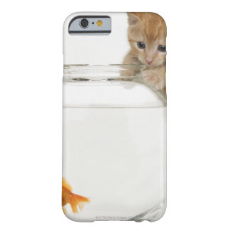 Kitten trying to get at a goldfish barely there iPhone 6 case