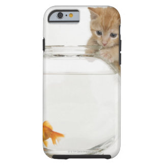 Kitten trying to get at a goldfish iPhone 6 case