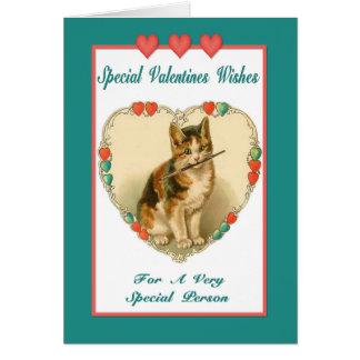 Kitten Valentine  Card - Friendship