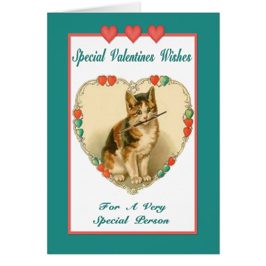 Kitten Valentine  Card - Friendship
