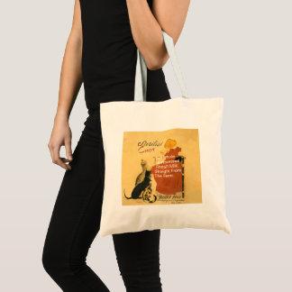 Kitten Vintage Milk Poster Tote Bag