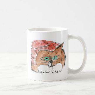 Kitten Wears a Knit Beanie Hat Coffee Mug
