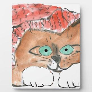 Kitten Wears a Knit Beanie Hat Photo Plaque