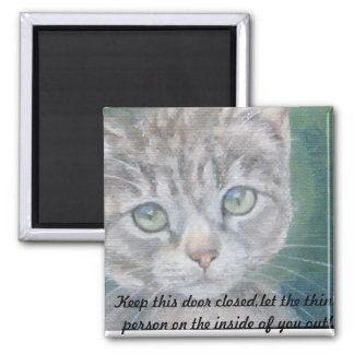 Kitten  Weight Loss Refridgerator Magnet