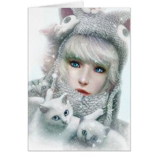 Kitten Winter Card