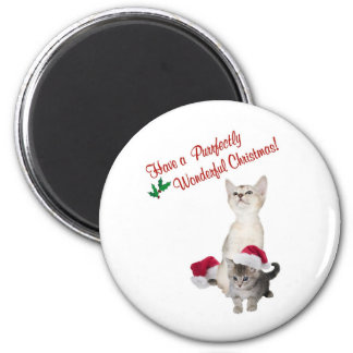 Kitten Wishes For A Purrfectly Wonderful Christmas Fridge Magnet