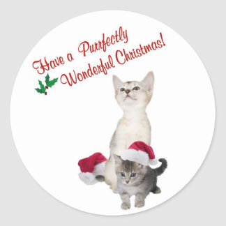 Kitten Wishes For A Purrfectly Wonderful Christmas Sticker