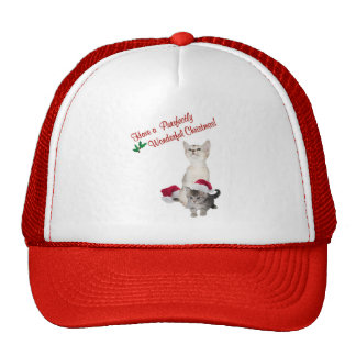 Kitten Wishes For A Purrfectly Wonderful Christmas Trucker Hat
