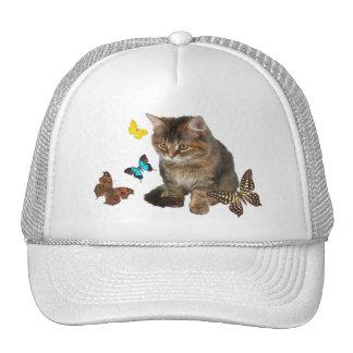 """""""Kitten with Butterflies"""" Trucker Hat"""
