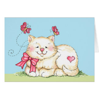 Kitten with Heart Card