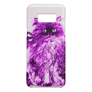 KITTEN WITH ROSES ,Purple Violet and White Case-Mate Samsung Galaxy S8 Case