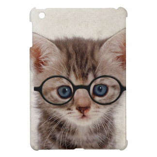 Kitten with Round Glasses iPad Mini Cover