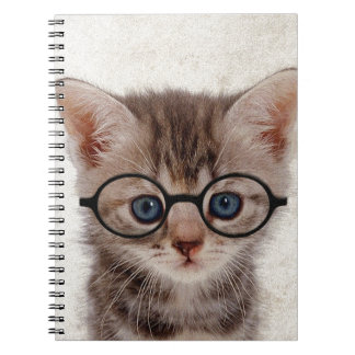 Kitten with Round Glasses Notebook