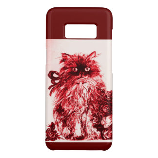 KITTEN WITH WHITE RED ROSES Case-Mate SAMSUNG GALAXY S8 CASE