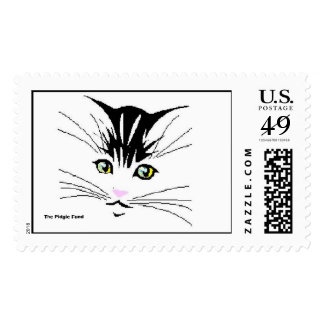 kitten with yellow eyes pink nose, The Pidgie Fund Postage Stamps