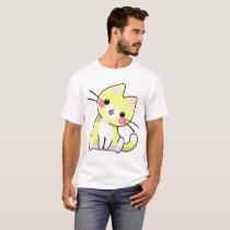 Kitten Yellow Heart T-Shirt