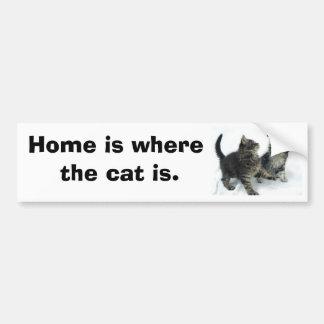 kittenjanuary casero es donde está el gato pegatina de parachoque