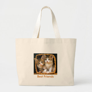 kittens2, Best Friends Large Tote Bag