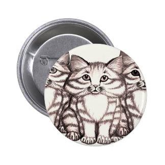 kittens3 2 inch round button