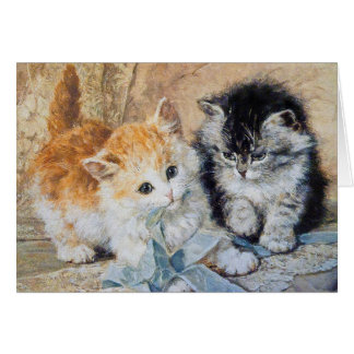 Kittens, 1893 greeting cards