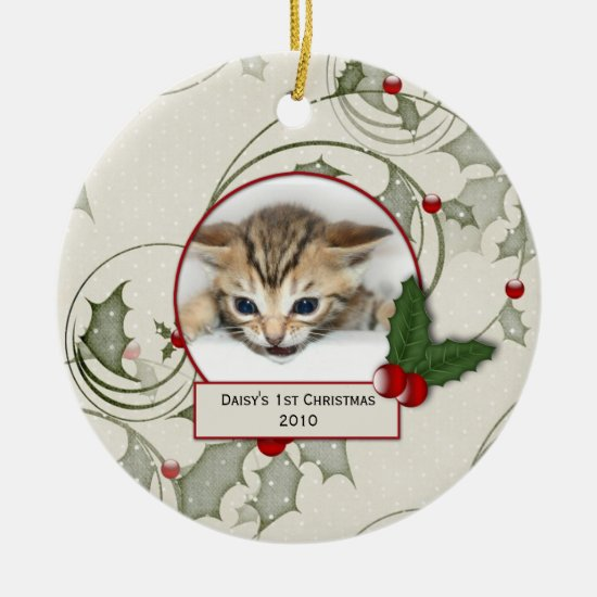 Kitten's 1st Christmas Ornament