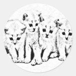 Kittens 2 round stickers