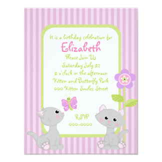 Kittens and a Butterfly Card