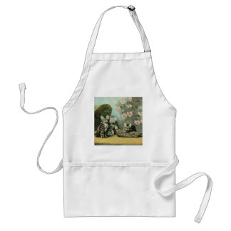 Kittens and Blossoms Apron
