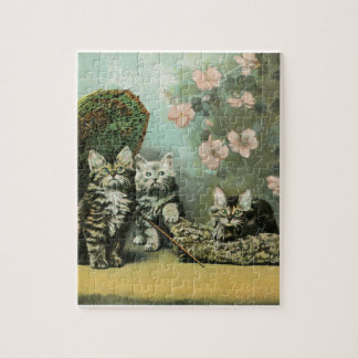 Kittens and Blossoms Puzzle
