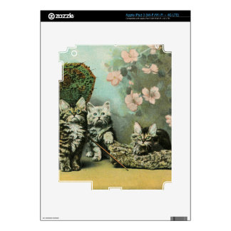 Kittens and Blossoms iPad 3 Decal
