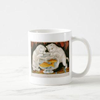 Kittens and Goldfish Classic White Coffee Mug