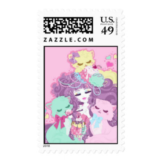 Kittens and ice cream postage